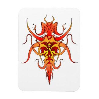 Demon Tribal Tattoo - red and yellow Rectangular Photo Magnet