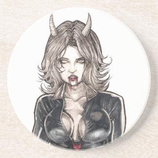 Demon Vampyre Beverage Coasters
