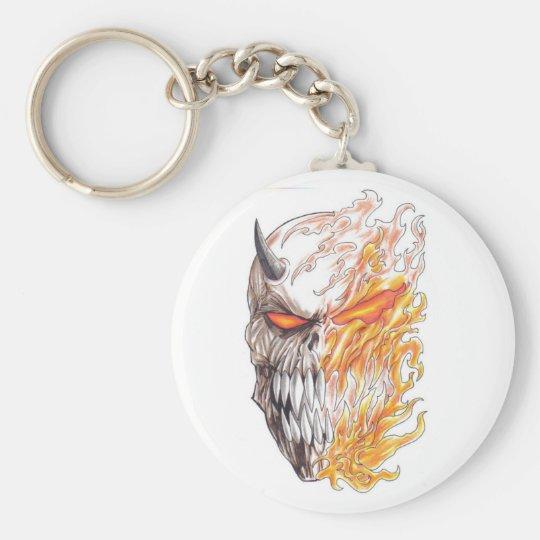 Demonic Art Head Drawing Keychain