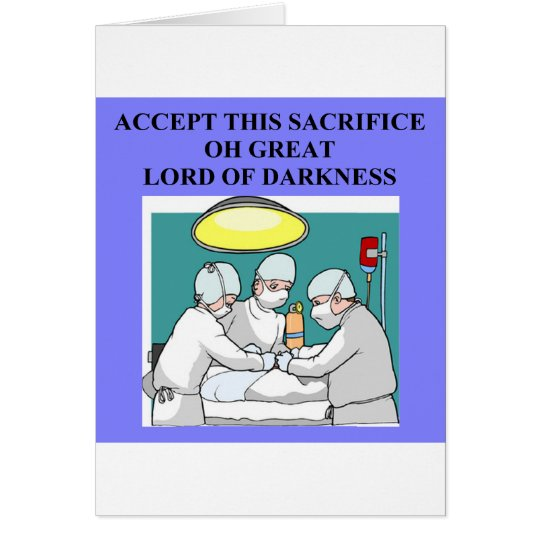 demonic doctor / surgeon joke card