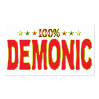Demonic Star Tag Pack Of Standard Business Cards