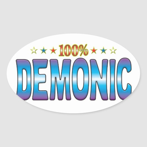 Demonic Star Tag v2 Oval Sticker