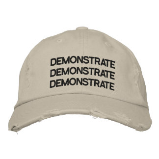 Demonstrate Adjustable Hat Distressed Stone Embroidered Cap