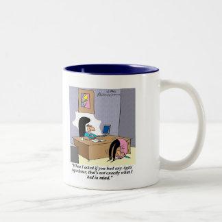 Demonstrate your agile skills! Two-Tone coffee mug