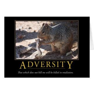Demotivational Card: Adversity
