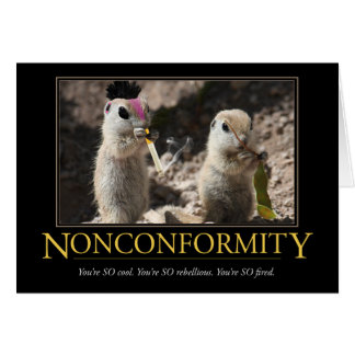 Demotivational Card: Nonconformity