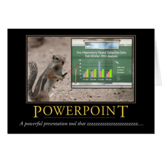 Demotivational Card: Powerpoint Note Card
