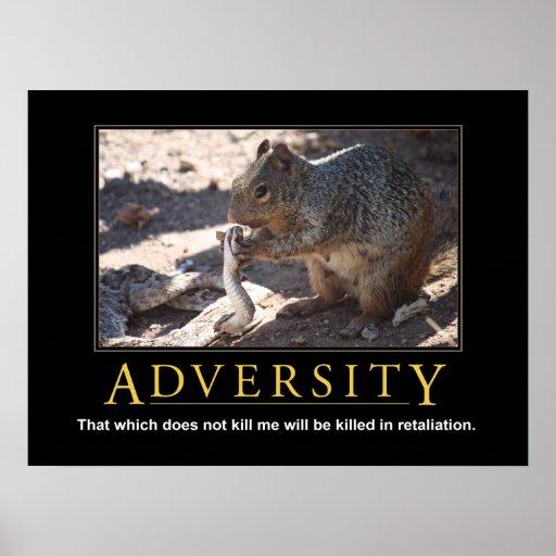 Demotivational Poster: Adversity