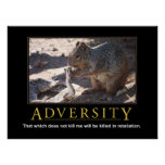 Demotivational Poster: Adversity Poster