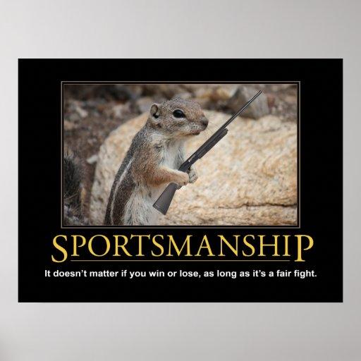 Demotivational Poster: Sportsmanship Squirrel Print