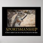 Demotivational Poster: Sportsmanship Squirrel Poster