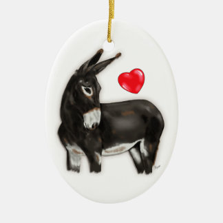 Demure Donkey Memorial Keepsake Christmas Ornament