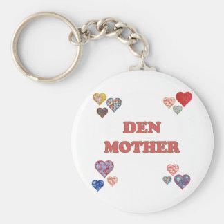 Den Mother Basic Round Button Key Ring