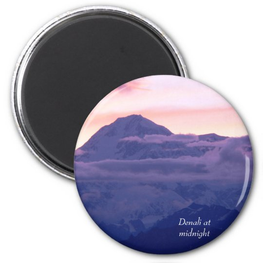 Denali at Midnight 6 Cm Round Magnet