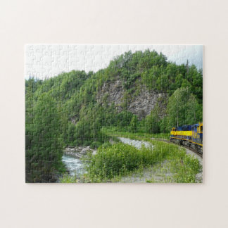 Denali Express Alaska Train Vacation Photography Jigsaw Puzzle