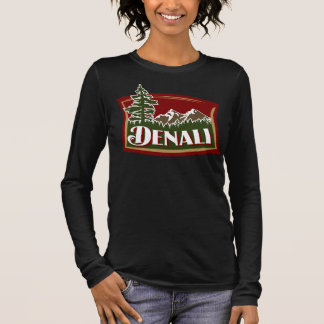 Denali Mountain Scene Long Sleeve T-Shirt
