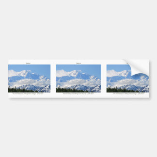 Denali / Mtns are calling-J Muir/with border Bumper Sticker