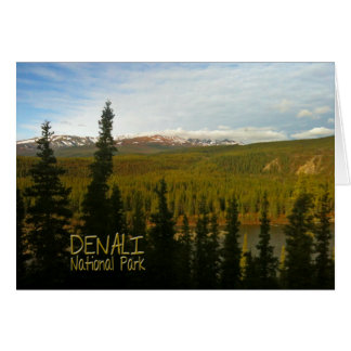 Denali National Park in Alaska Stationery Note Card