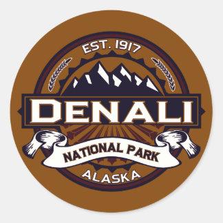 Denali National Park Logo Classic Round Sticker