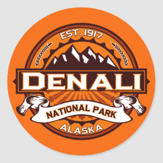 Denali National Park Logo Round Sticker