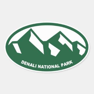 Denali National Park Oval Oval Sticker