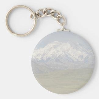 Denali Peak Basic Round Button Key Ring