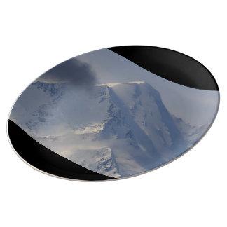 denali peak porcelain plate