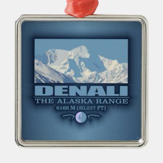 Denali Silver-Colored Square Decoration