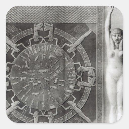 Dendera Zodiac, engraved in 1802 Sticker