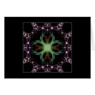 dendrites & cosmic lightning greeting card