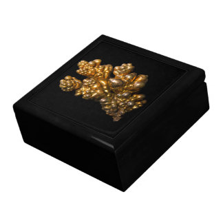 Dendritic Copper Photo on Black Background Gift Box