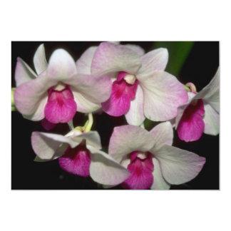 Dendrobium flowers personalized announcements