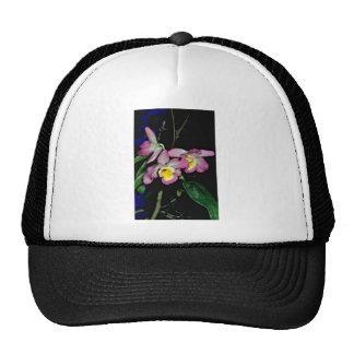 Dendrobium nobile  flowers trucker hat