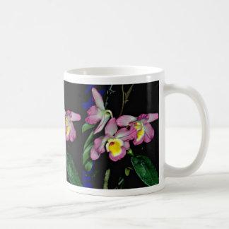 Dendrobium nobile  flowers coffee mugs