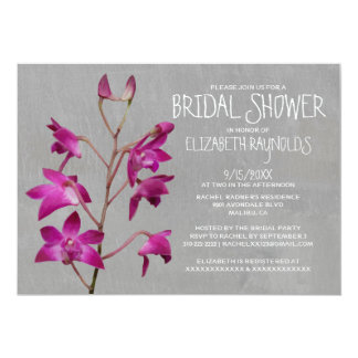 Dendrobium Orchid Bridal Shower Invitations