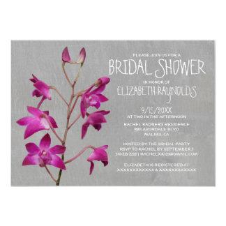 "Dendrobium Orchid Bridal Shower Invitations 5"" X 7"" Invitation Card"