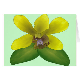 Dendrobium Orchid Greeting Card
