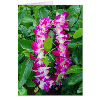 Dendrobium Orchid Lei Greeting Card