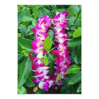 Dendrobium Orchid Lei 5x7 Paper Invitation Card