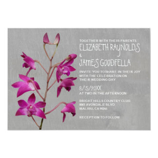 Dendrobium Orchid Wedding Invitations