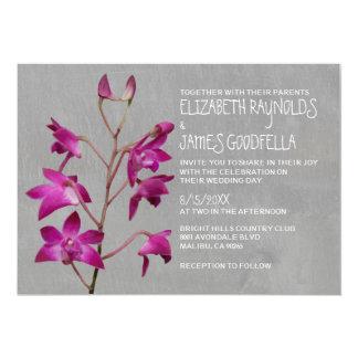 Dendrobium Orchid Wedding Invitations