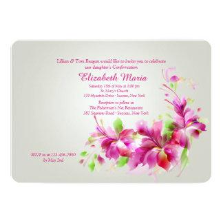 """Dendrobium Orchids Invitation 5"""" X 7"""" Invitation Card"""