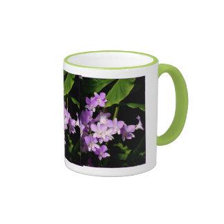Dendrobium Orchids Ringer Coffee Mug