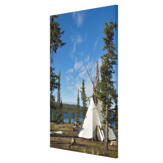 Dene Tribe gathering, Northwest Territories, Gallery Wrapped Canvas