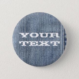 Denim 6 Cm Round Badge