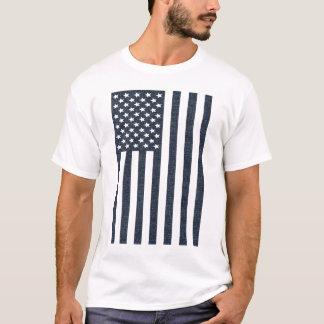 Denim American Flag T-Shirt