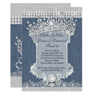 denim and diamonds invitation templates Gidiyeredformapoliticaco