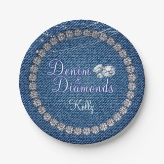 Denim and Diamonds Party  Plates