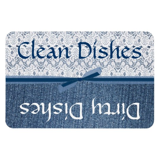 Denim and Lace Dishwasher Magnet