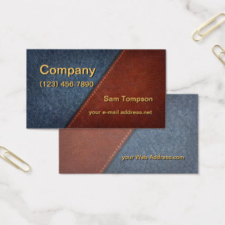 Denim and Leather Business Card